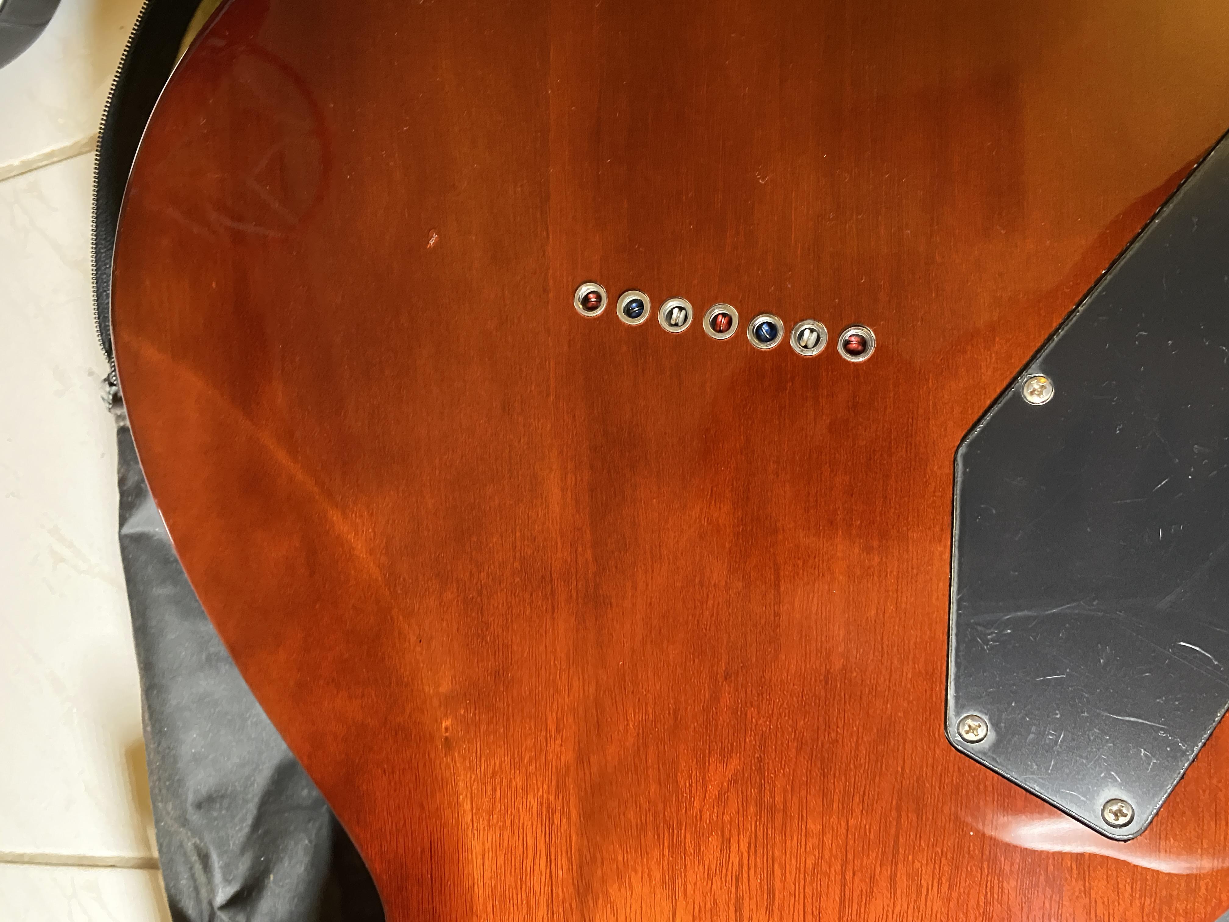 (已售出)Harley Benton SC-7 LP扇形七弦吉他