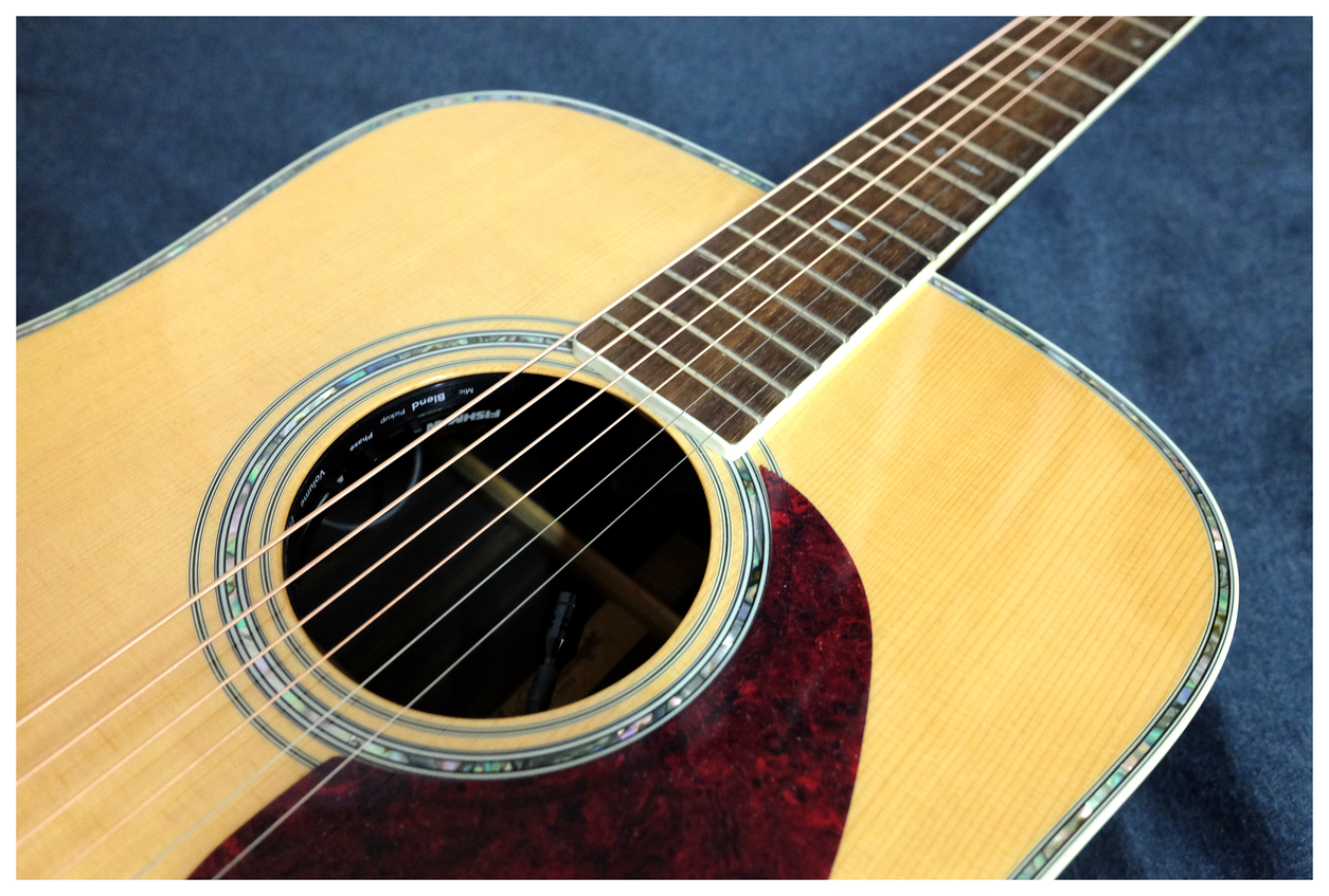 日本大廠Aria AD 80 全單板木吉他 含硬殼 拾音器