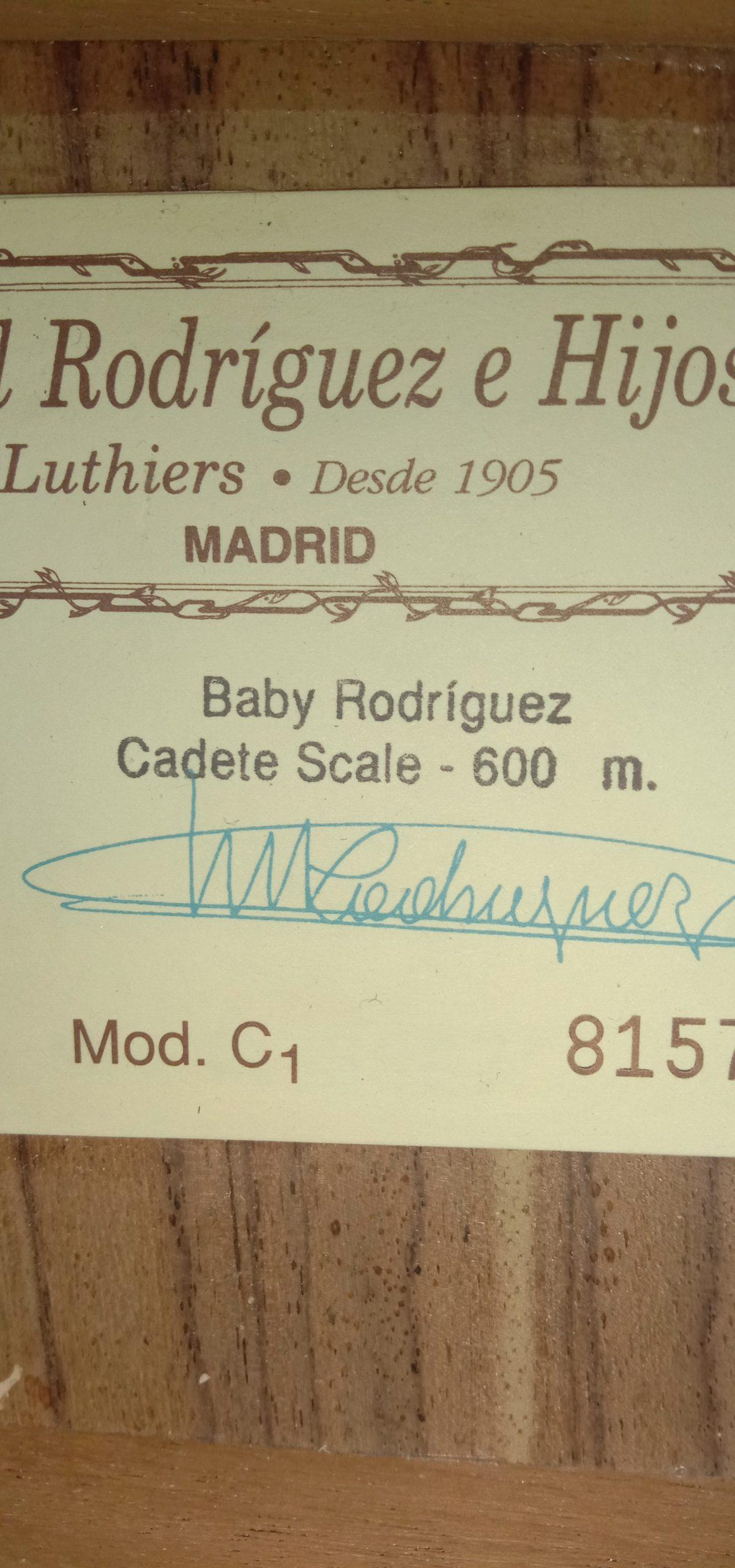 Baby Rodriguez Mod C1