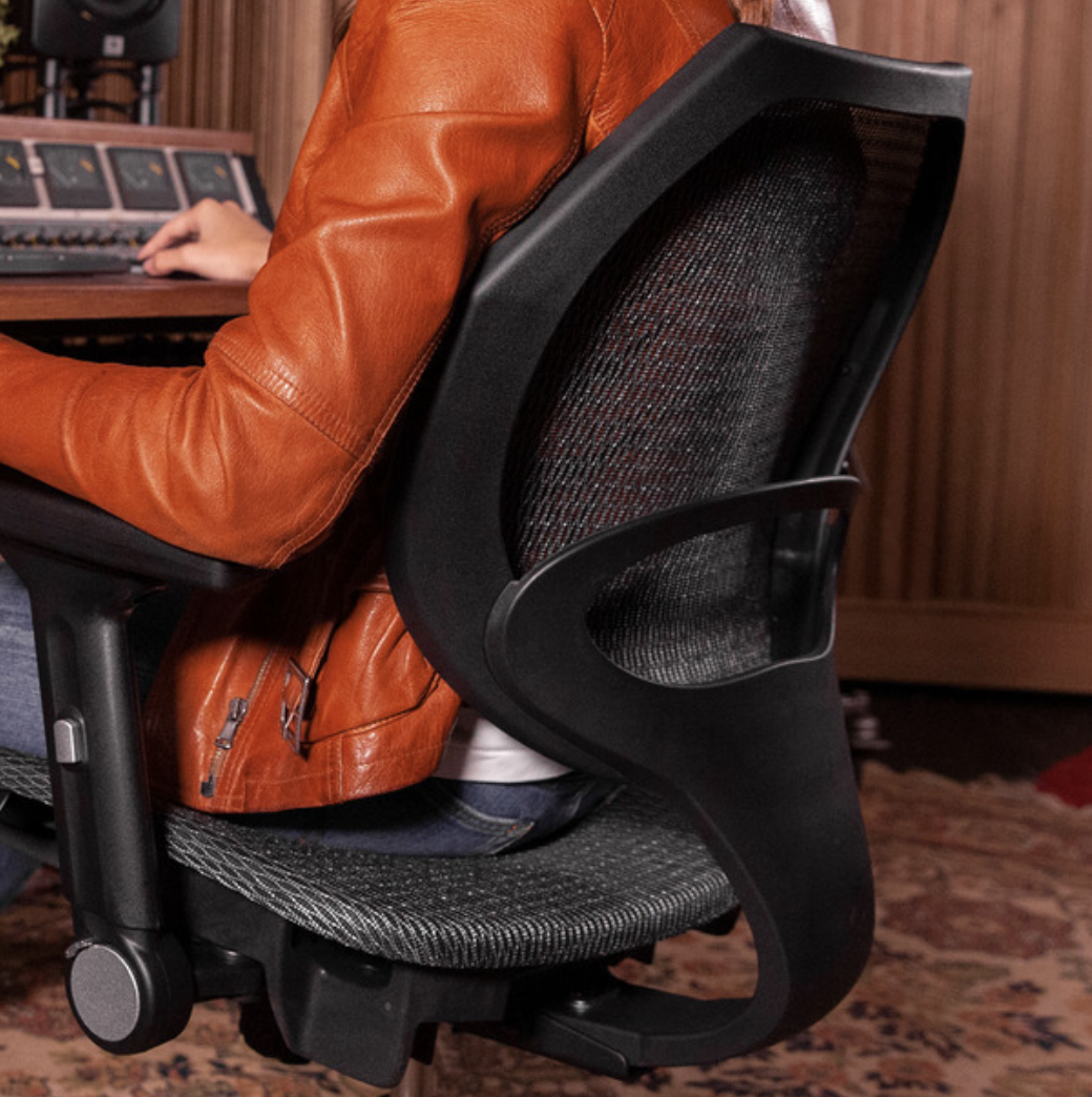 Wavebone Voyager I 人體工學樂手椅 彈力網座(銀河灰