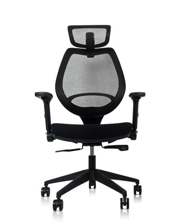 Voyager II 人體工學樂手椅高背款彈力網座 (安息黑