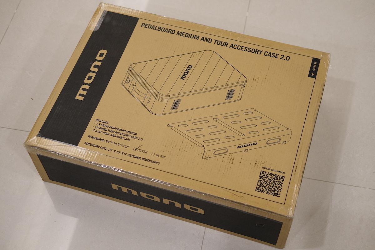 Mono 中型效果器盤(銀色)+ 效果器袋