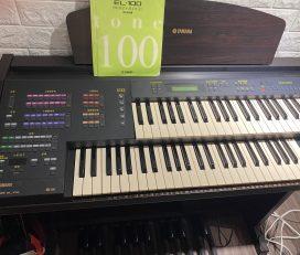 YAMAHA山葉Electone雙層電子琴EL-100電管風琴(8千直購)附說明書Stagea雙排鍵