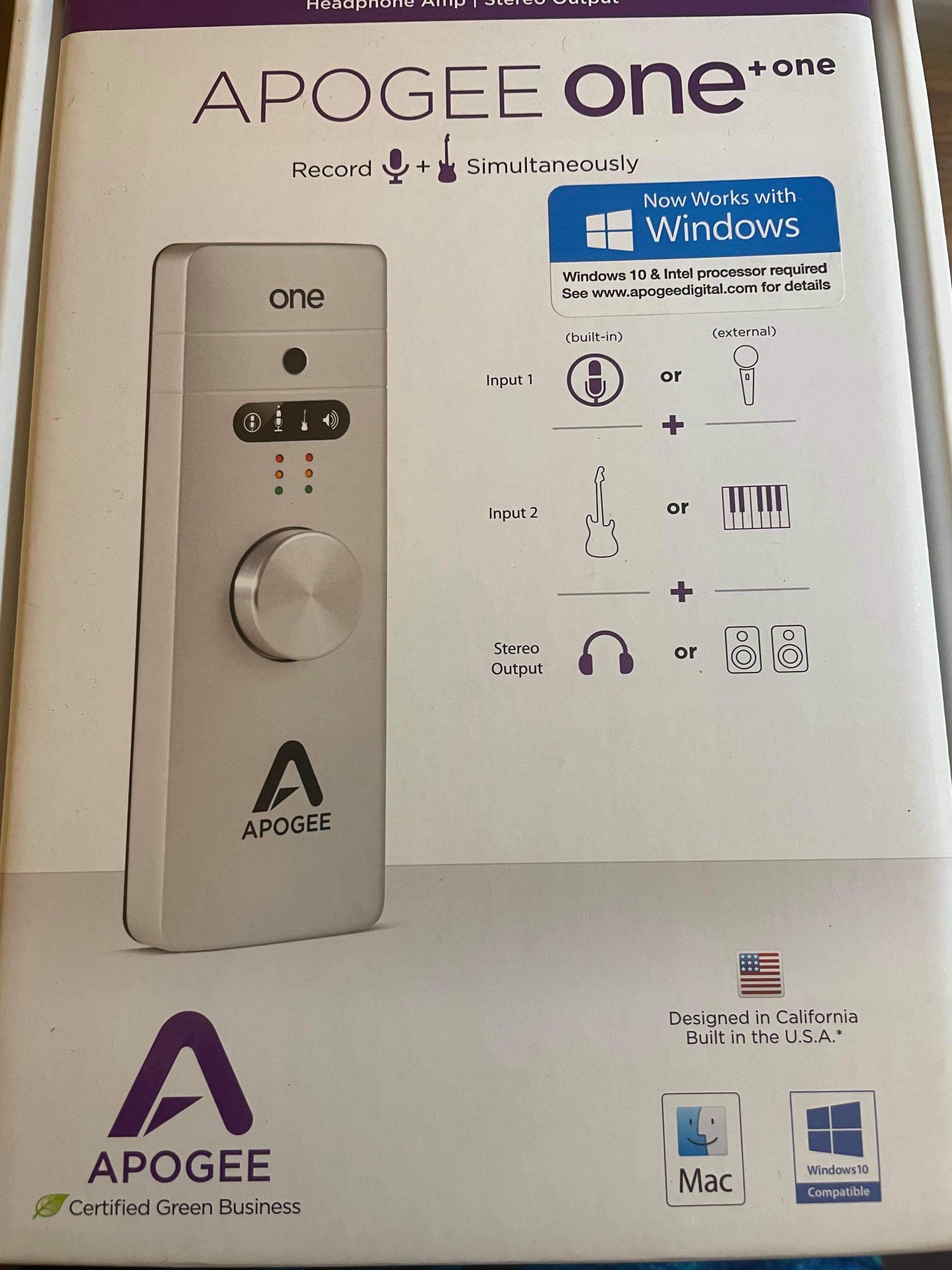 apogee one 錄音介面+ 各式連接線配件IOS Upgrade Kit(合賣)